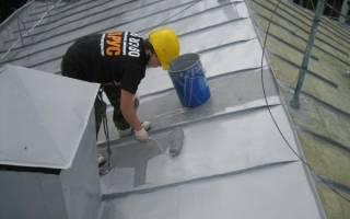 Как покрасить крышу из оцинкованного железа?