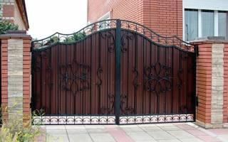 Калитка в воротах из профнастила фото