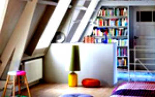 Чертеж дома с мансардой: план чердака
