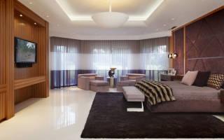 Дизайн большой комната спальня