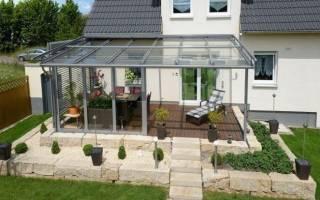Прозрачная крыша для террасы: светопрозрачная кровля