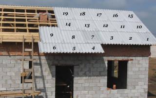 Как правильно укладывать шифер на крышу