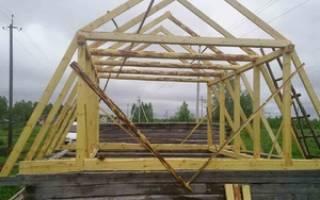 Как построить ломаную крышу?