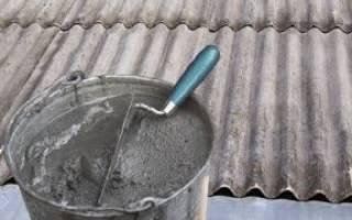 Как заделать трещину в шифере на крыше?