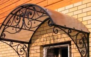 Как сделать козырек над входной дверью?