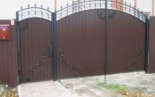 Калитка с элементами ковки фото – фотографии кованых ворот