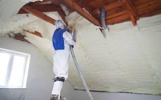 Утепление кровли пенополиуретаном: пенный утеплитель для крыши