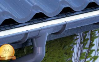 Желоба для отвода воды с крыши пластиковые, водосток из ПВХ