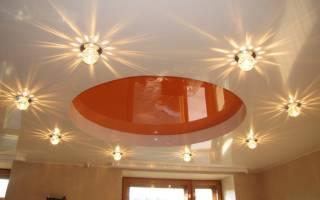 Дизайн освещения в натяжных потолках