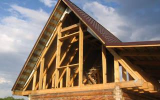 Как сделать фронтон двухскатной крыши?