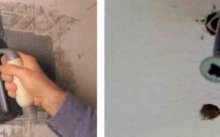 Как зацементировать дыру в стене