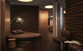 Дизайн коричневой спальни