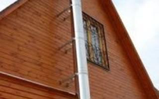 Установка дымохода через стену в деревянном доме: как правильно вывести?