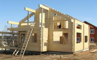 Постройка дома из профилированного бруса