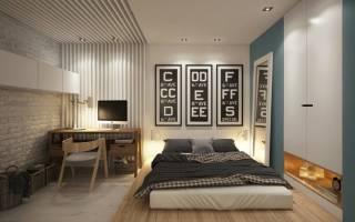 Дизайн поклейки спальни