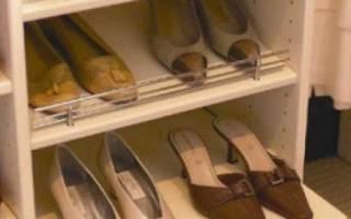 Дизайн полки для обуви