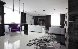 Дизайн комнаты черно белый цвет
