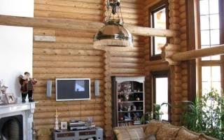 Дизайн дома из оцилиндрованного бревна внутри фото