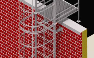 Лестница пожарная металлическая на кровлю типовая