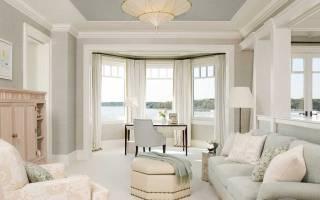 Дизайн комнаты с эркерным окном