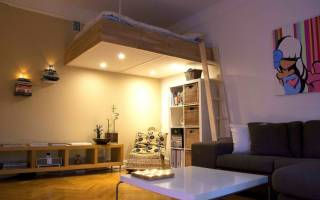 Дизайн комнаты с кроватью чердаком