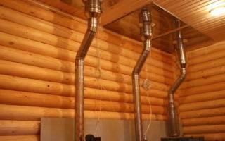 Правила установки дымохода в деревянном доме