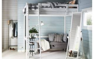 Дизайн кровати чердака