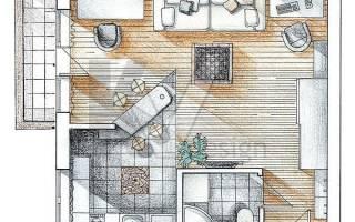 Дизайн перепланировка однокомнатной квартиры