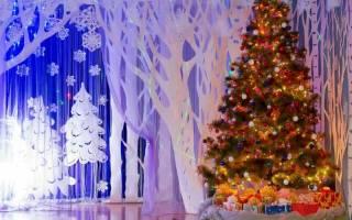 Новогодний декор в детском саду