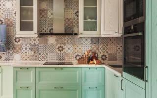 Кухня в мятном цвете дизайн