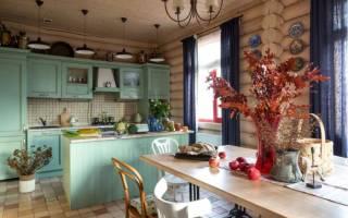 Кухня в доме из бруса интерьер