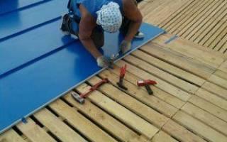Как делать фальцевую крышу из железных листов