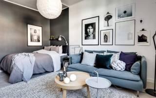 Дизайн проект гостиная спальня