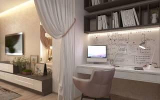 Дизайн комнаты с разделением