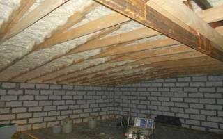 Как утеплить крышу гаража изнутри?
