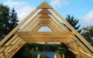 Как правильно установить стропила двускатной крыши