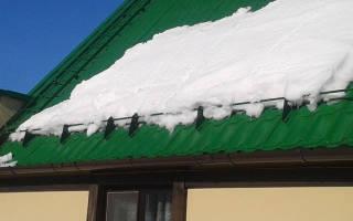 Как самому сделать снегозадержатели на крышу