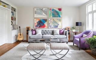 Дизайн комнаты с белым полом