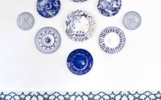 Как повесить тарелку на стену без гвоздей