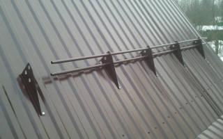 Как правильно крепить снегозадержатели на профнастил: снегозадержатель на крышу