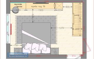 Дизайн спальни 15 кв м с гардеробной