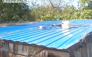 Крыша для сарая: чем покрыть сарай дешево?