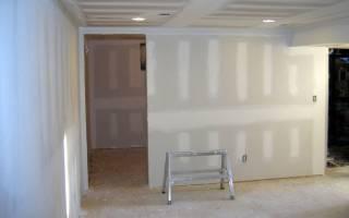 Облицовка стен гипсокартоном без каркаса
