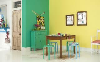Дизайн комнаты с крашенными стенами