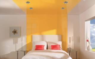 Дизайн натяжного потолка в спальне фото