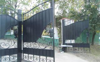 Ворота из кованных элементов