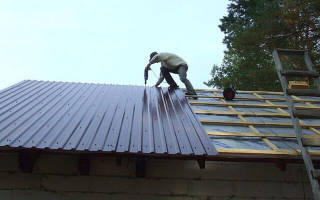 Монтаж профлиста на крышу инструкция