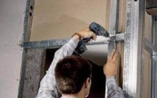 Как закрыть нишу в стене гипсокартоном