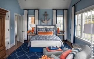 Дизайн комнаты с яркими акцентами