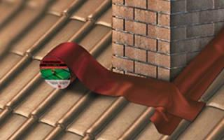 Как устранить течь на крыше возле трубы